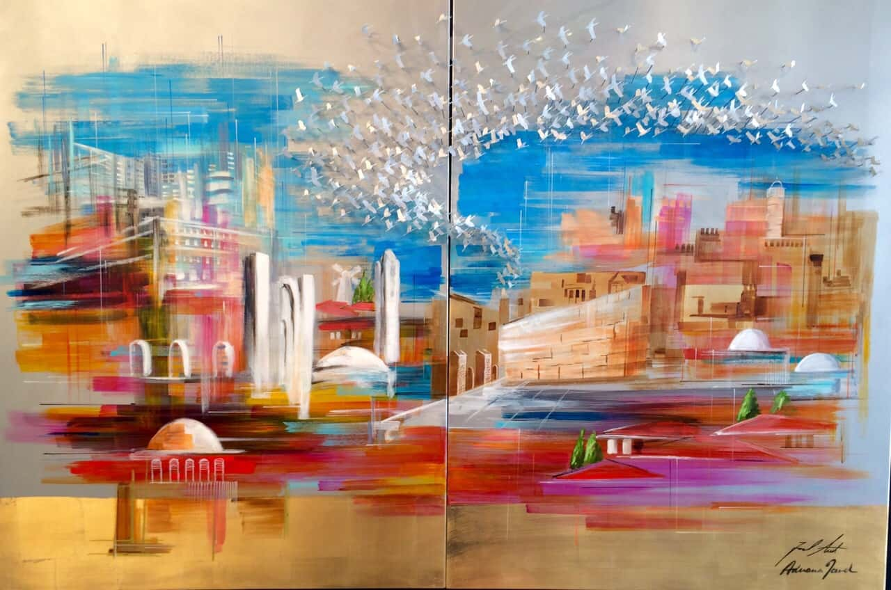 Across jerusalem Skies 180x120 cm