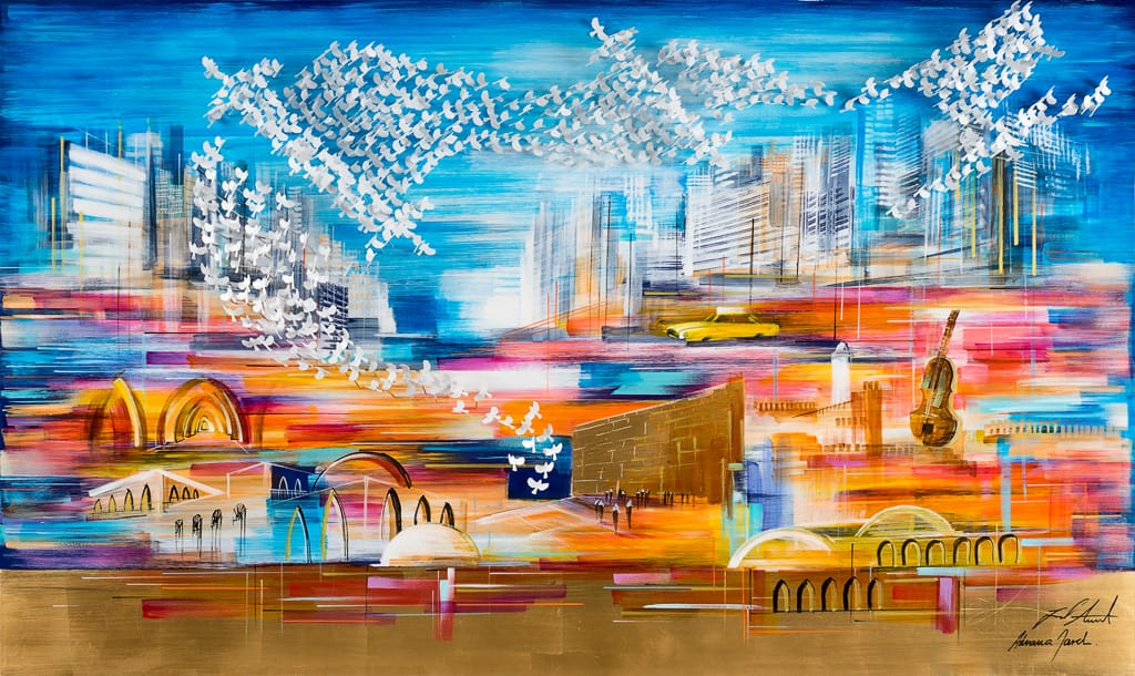 East and West 150x90 cm